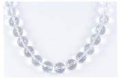 AqBeadsUk Classic Semi-Precious Gemstone Clear Crystal Quartz Beads 48cm - 50cm Luxury Handmade/Hand-Knotted Women's Necklace