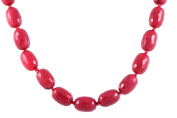 AqBeadsUk Classic Semi-Precious Gemstone Rury Beads 47cm - 50cm Luxury Hand-Knotted Women's Necklace