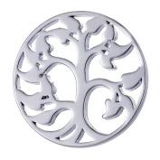 Morella Women's Amulet Coins 33 mm Zirconia Stones