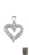 Original Enez Heart Real Silver Plated A2963 3.0 cm Pendant + Gift Bag