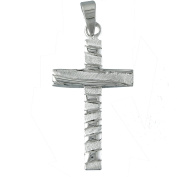 Pendant silver cross shiny and Matt. JOYERIA Sterling Silver 925.
