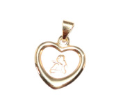 * 333 gold Children Heart Pendant Guardian Angel Engraved Present *