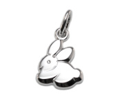 * 925 Women's Children's Pendant Rabbit Shiny Animals Zoo Lucky Charm *
