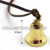 Nautical ship bell locket pendant brown leather cord classical unisex jewelery 2017 .