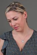 Talisman Jewellery-Pendant-Basque Cross-Woman-Silver-Cz-Chain included