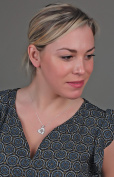 Talisman Jewellery-Pendant-Basque Cross-Heart-Woman-Silver-Cz-Chain included