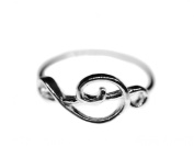 Treble clef Ring Miniblings music clef 925 silver
