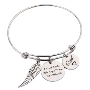 I Used To Be His Angle Now He's Mine Dad Expendable Pendant Bangle with Angle Wing