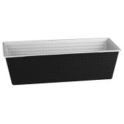 """Zenker """"Energy"""" Baking Tin, Stainless Steel, Anthracite/Silver, 30 cm"""