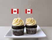 CANADA / CANADIAN CUPCAKE FLAG - Cupcake Decorations / Cocktail Flags / Cupcake Toppers