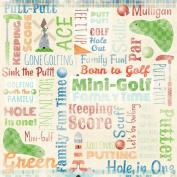 Karen Foster 64834 Design 25 Sheets Scrapbooking Paper, 30cm x 30cm , Mini Golf Collage
