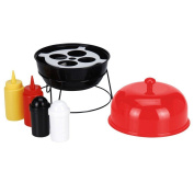 Summer Bbq Grill Condiment Sauce Holder Set Table Decor Outdoor Party Dispenser