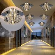 3w Crystal Led Ceiling Light Pendant Lamp Fixture Chandelier Modern Lighting Uk
