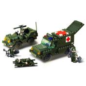 Ambulance + Jeep - Sluban Building Set Bricks Slubanm38b6000 Army Building