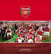 Arsenal F.C. Official Desk Easel 2018 Calendar - Month To View Desk Format