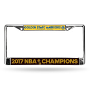 NBA Golden State Warriors 2017 Basketball Champions Chrome Frame, 30cm by 15cm , Royal Blue, Gold