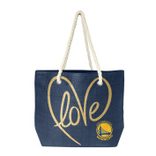 NBA Golden State Warriors Women's Rope Tote, Navy, Gold, 50cm x 36cm 15cm