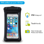 Floating Waterproof Case,AYAMAYA Universal Dry Bag Pouch for Apple iphone 7 7s 6 6s Plus for Samsung Galaxy S7, S6 HTC LG Sony Nokia Motorola up to 14cm with Lanyard Neck Strap