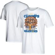 Golden State Warriors Youth 2017 NBA Finals Champions Cartoon Caricature White T-shirt