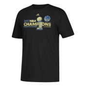 NBA Golden State Warriors Men's 2017 Finals Champions Locker Room T-Shirt, XX-Large, Black
