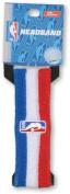 Official NBA On-Court Logoman Headband - Red/White/Blue