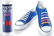 SUPERLACES No Tie Shoelaces for Kids and Adults.Waterproof Elastic Silicon Shoe Laces