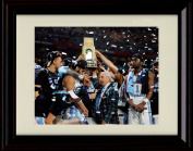 Framed 2017 Championship Trophy - North Carolina Tar Heels Win!