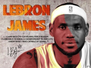Tri-Seven Entertainment LeBron James Poster Back To Cavs Quote Art Print, 60cm L X 46cm W