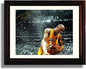 "Framed Kobe Bryant ""Celebration"" Los Angeles Lakers Autograph Replica Print"