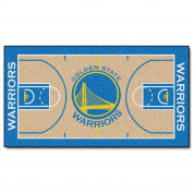 FANMATS NBA Golden State Warriors Nylon Face NBA Court Runner-Small