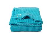 Jollein 511 516 82012 Chunky Knit Knitted Blanket 75 x 100 cm Aqua