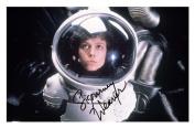 Sigourney Weaver - Alien Signed Autographed 21cm x 29.7cm A4 Photo Poster