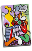 Pablo Picasso Painting Great Still Life On Pedestal Canvas Print Wall Art Picture Canvas Prints Large A1 30 X 20 Inches