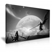 Final Fantasy 7 Sephiroth VS Cloud Stretched Canvas Print 76 cm x 50 cm