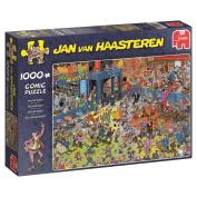 Jan Van Haasteren - The Roller Disco, 1000 Piece Jigsaw Puzzle