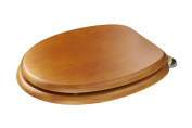Croydex Douglas Antique Pine Effect Toilet Seat With Brass Hinges