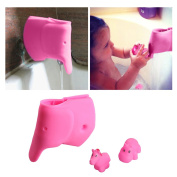 Baby Bath Spout Cover - Faucet Cover Guard Protector for Kids and Toddlers - Child Bathroom Accessories Silicone Cover for Bathtub - Cute Tub Faucet Safety Spout Pink Elephant - Free Bath Tub Toys