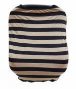 Summer Rainbow Multi-Use Stretchy Unisex Baby Car Seat Canopy and Nursing Cover