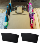 Vivian Catch Caddy Seat Catcher Plastic Car Auto Seat Side Slit Pocket Storage Bag Pack of 2PCS