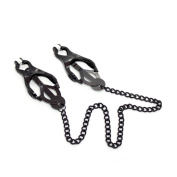 Nipple Clip, 2m² Nipple Massage Strong Clip Adjustable Butterfly Design with Stainless Steel Chain,Black