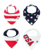 "The Good Baby Bandana Drool Bibs – 4 Pack Baby Bibs for Boys, Girls, Unisex - ""Freedom Set"""