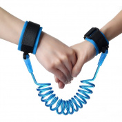 Huluwa Children Anti Lost Wrist Link Safety Walking Hand Belt, Harness Strap Rope Leash for Kids Babies Toddlers, Safe and Comfort, Blue, 150cm
