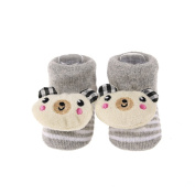 Cartoon Newborn Baby Unisex Non-slip Ankle Cotton Socks Slipper Shoes