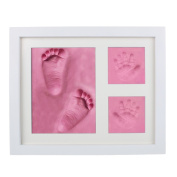 Andux Land Baby Handprint and Footprint Photo Frame YNXK-01