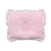 crownroyaljack Newborn Infant Baby Prevent Flat Head Neck Support Velvet Positioner Pillow, Pink