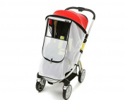Manito Magic Shade (Sun Shade + Mosquito Net 2-in-1) for Strollers - Red/White