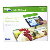 Stages Learning Materials Link4fun Farm Animals Board Book for iPad Preschool Vocabulary + Reading Interactive Learning Toy for Kids 1 Book, Free App