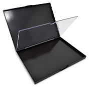 Magnetic Empty Makeup Palette, Double Sided with Divider, Extra Large, for depotted eyeshadow, blush, baked powders, foundation powder and more - Black