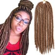 6packs/lot Faux Locs Crochet Twist Braids Synthetic Hair Extensions Fauxlocs Kanekalon Fibre Braiding Hair Afro Kinky Soft Dread Dreadlocks 27# Colour 36cm 46cm (46cm