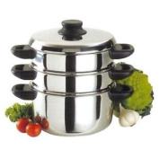 Baumalu - 342645 - Stainless Steel Steamer Pot 3 Parts 24 Cm